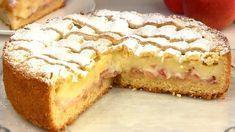 Chec cu cremă fiartă și mere fin, aromat și extrem de gustos, exact ca un tort. O prăjitură minunată cu aluat sfărâmicios. INGREDIENTE: Pentru aluat: -350 gr de făină; -1 ou; -60 gr de smântână fermentată; -180 gr de unt; -150 gr de zahăr; -1½ linguriță praf de copt; -un praf de sare; -zahăr pudră. Pentru cremă: -400 ml de lapte; -1 ou; -2 linguri de amidon (55 gr); -100 gr de zahăr; -10 gr de zahăr vanilat. Pentru umplutură: -2-3 mere. MOD DE PREPARARE: 1.Pregătiți aluatul. Cerneți făina… Vegetarian Desserts, Good Food, Yummy Food, Romanian Food, Sweet Bread, Apple Pie, I Foods, Bakery, Cheesecake
