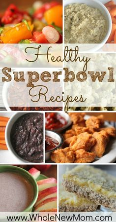 Healthy Super Bowl Recipes - all gluten free, dairy free, egg free and sugar free
