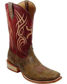 Twisted X Red Hooey Cowboy Boots - Square Toe