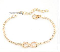 Handmade Charm Infinity Bracelet