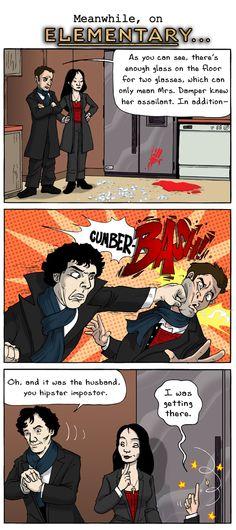 CumberBASH!! Sherlock completely annihilates Elementary!!