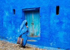 Beauty Blue Town Wall Chefchaouen Morocco