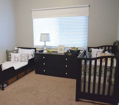 Real Nursery Tour: A Shared Room for Baby and Toddler *Like the baskets under the toddler bed.