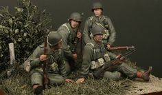 Check out the incredible painting on these 1/35th scale GIs.