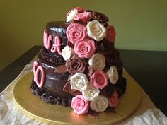 una chispa de dulzura: Tarta de  Chocolate y Rosas