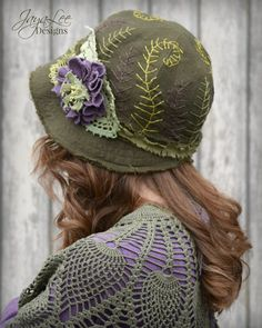 Spring Fern Linen Cloche Hat by Jaya Lee Designs  This enchanting cloche hat is made from 100% natural linen fabric. The hat is a dark olive