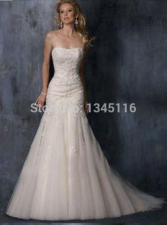 11e3d28b7d5f3 vestido de noiva Custom Made 2016 elegant Sweetheart Sleeveless New Best  Selling Lace Mermaid Wedding Dresses robe de mariage-in Wedding Dresses  from ...