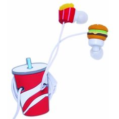 Fast Food Earbud and Cord Wrapper Set Iphone 5s, Coque Iphone, Iphone Cases, Telephone Iphone, Cute Headphones, Accessoires Iphone, Cute Cases, Smartphone, Cool Gadgets