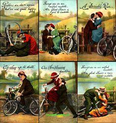 Bicycle Loving Couple Humorous