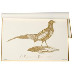 Harvest Pheasant Paper Placemats #laylagrayce