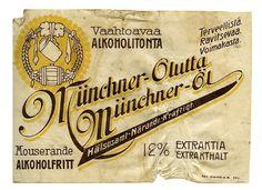 Münchner-Olut #olut #etiketit #beer #labels