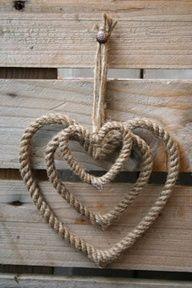 My idea of a Nautical Valentine ;0)  via oldstuffshop.nl/