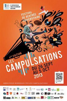 Festival Campulsations 2013. Du 26 septembre au 5 octobre 2013 à Talence.