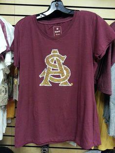 Sparkly ASU logo T-shirt. 9cb7231cf