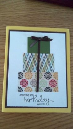 Easy Birthday card with paper scraps
