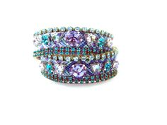 Double wrap friendship bracelet cuff by distinguishedesigns, $210.00