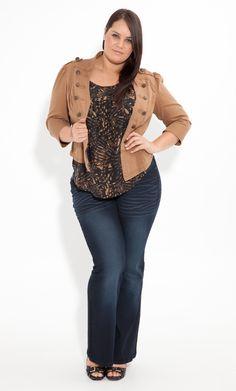 Plus Size Sequin Rain Jean image