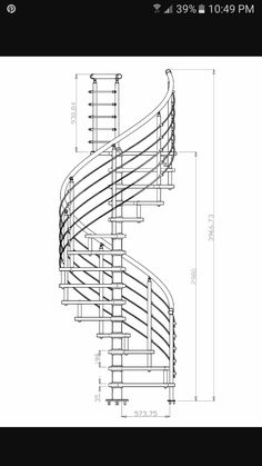 Beau Modern Staircase, Staircase Design, Spiral Staircase, Stair Plan, Steel  Stairs, Stair