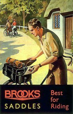 Vintage Brooks Cycling Saddles advert
