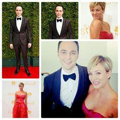 Emmy Awards 2014, Jim Parsons de Armani y Kaley Cuoco de Monique Lhuillier  #AGDLM #fashion #moda #EmmyAwards2014 #Emmy#Awards #style