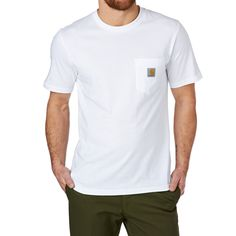 Men's Carhartt T-shirts - Carhartt S/s Pocket T-shirt - White