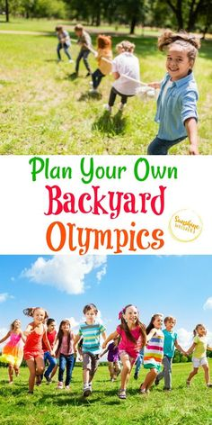 Every four years, the world gathers to have the Summer Olympics. This is such a fun event that everyone loves to watch! Why not create your very own Olympics in your backyard! It will be tons of fun for your kids and any of their friends who get involved. Here are some amazing ideas to help you. Plan your own backyard Olympics. #backyardfun #outdoorfun #summerfun #summer #kidsactivities Summer Camp Games, Summer Activities, Summer Camps For Kids, Summer Kids, Olympics Kids Activities, Sports Activities, Activities To Do, Summer School, Olympic Games For Kids