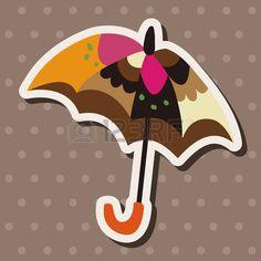 Illustration of Umbrella theme elements vector art, clipart and stock vectors. Umbrella Quotes, Vector Art, Clip Art, Illustration, Home Decor, Decoration Home, Room Decor, Illustrations, Home Interior Design