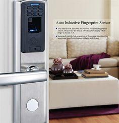 Avent Security M100 fingerprint digital door lock system with stainless steel