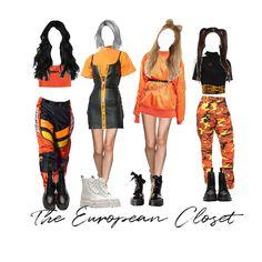 1 - Fashion look Fashion Looks, Blackpink Fashion, Kpop Fashion Outfits, Stage Outfits, Edgy Outfits, Dance Outfits, New York Fashion, Korean Fashion, Girl Outfits