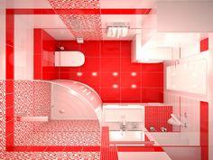 Красная ванная комната дизайн фото Bathroom Under Stairs, Bathroom Red, Bathroom Interior, Small Toilet, Toilet Design, Indian Home Decor, Bathroom Design Small, House Design, Luxury Bathrooms