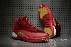 961b011f59b Cheap Air Jordan 12 (XII) Red Velvet-Gold