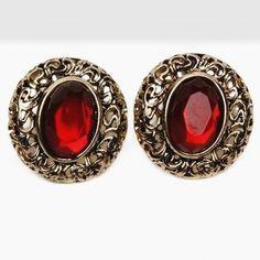 Nuevo Diseño Al Por Mayor de Moda Juego Rojo Stud Pendientes Accesorios de Joyería