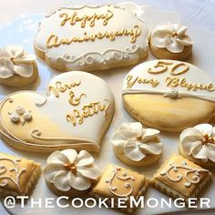 Hy Anniversary Vern And Betty Thecookiemonger Cookies
