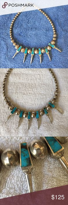 18 inch silver and turquoise necklace 18 inch silver and turquoise necklace Jewelry Necklaces