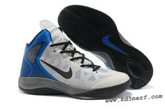 bf30619f8aca Nike Zoom Hyperenforcer Shoes In White Black Blue 2013 Nike Shoe Store