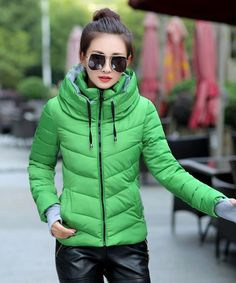 hooded plus size 2016 Korean long sleeve warm light down padded winter jacket women parkas for women winter coat women B143