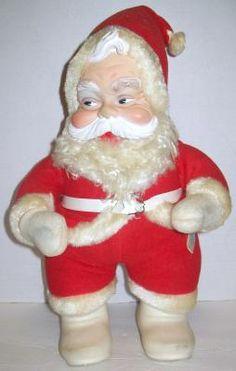vintage rushton coca cola santa claus 16 figure plush i have this identical santa - Stuffed Santa Claus