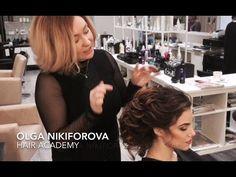 Свадебная прическа. Как сделать прическу. Капралова Ольга Beautiful wedding hairstyle. - YouTube