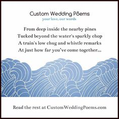 Trains & lakes & trees make for a perfect Custom Wedding Poem. As they say, you can't work without tools! #weddinginspiration #weddingplanning #weddingideas #weddingpoem