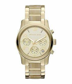 Michael Kors Ladies Runway Goldtone Horn Watch #Dillards