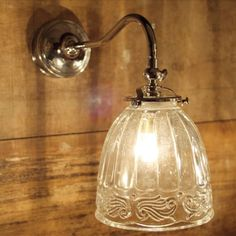 Classic Nickel Wall Light with Patterned Glass Shade Barn Lighting, Outdoor Wall Lighting, Wall Sconce Lighting, Sconces, Bathroom Spotlights, Bathroom Wall Lights, Interior Wall Lights, Glass Wall Lights, Lighting Companies