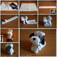 ARTE COM QUIANE - Paps,Moldes,E.V.A,Feltro,Costuras,Fofuchas 3D: passo a passo cachorrinho de toalha