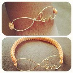 DIY infinity love bracelet   LUUUX
