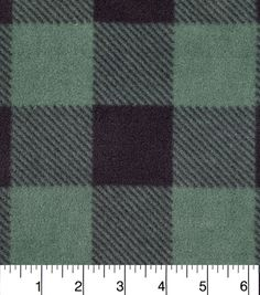 41d41ba9e29 Anti Pill Fleece Fabric-Green Black Buffalo Check Car Seat Poncho