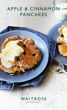Spiced with cinnamon and sultanas, these apple pancakes are full of flavour. Drizzle with honey and yogurt for a simple treat. Tap for the full Waitrose & Partners recipe. Sweet Breakfast, Breakfast Dishes, Breakfast Recipes, Waitrose Food, Cinnamon Apples, Pancakes And Waffles, Yogurt, Sweet Recipes, Love Food