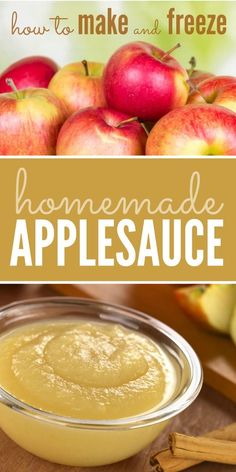 Step by step instructions on how to make and freeze homemade applesauce. Step by step instructions on how to make and freeze homemade applesauce. Freezer Applesauce, Baby Applesauce, How To Make Applesauce, Homemade Applesauce, Applesauce Recipes Easy, Apple Sauce Homemade, Best Apples For Applesauce, Homemade Recipe, Baby Food Recipes