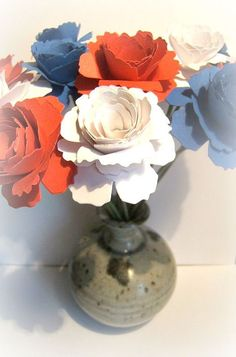 Bouquet Patriotic military 4th of July by jenuineserendipity, $13.50