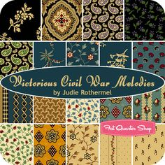 Victorious Civil War Melodies Fat Quarter Bundle Judie Rothermel for Marcus Brothers Fabrics - Fat Quarter Shop