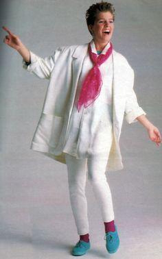 Esprit, Seventeen magazine, November 1985. Photograph by Oliviero Toscani.