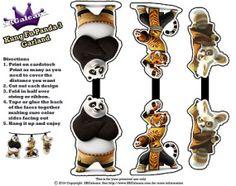 Po, Tigress and Shifu Garland - Kung Fu Panda 3 Free Party Printables | SKGaleana